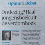 In De Volkskrant: 'Ontlezing? Haal jongensboek uit de verdomhoek.'